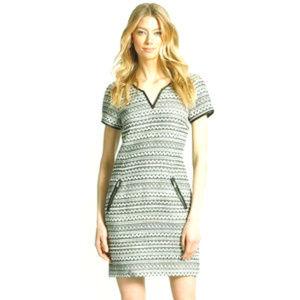 Rebecca Taylor  Femme Fancy B&W Tweed Shift Dress